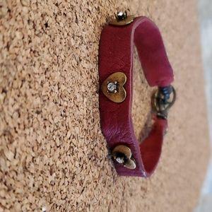 Fossil leather bracelot